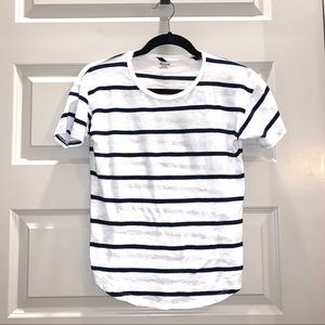 Madewell navy & white striped tee ❤️🤍💙 XS